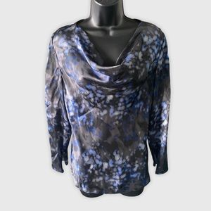 Armani Long Sleeve Silk Cowl neck top Size 6